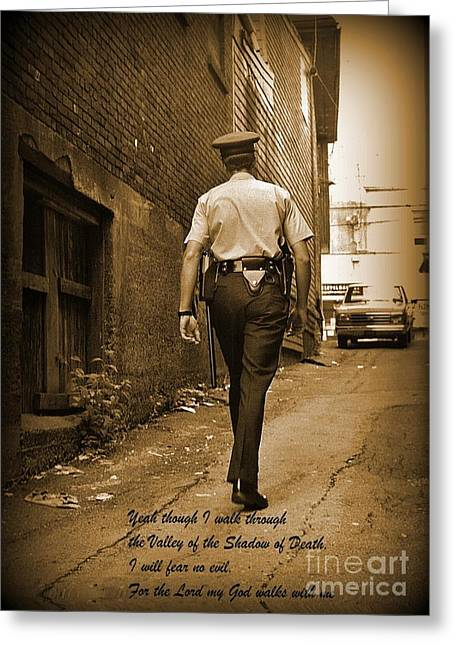 Halifax Art Work Greeting Cards - Beat Cop Greeting Card by John Malone