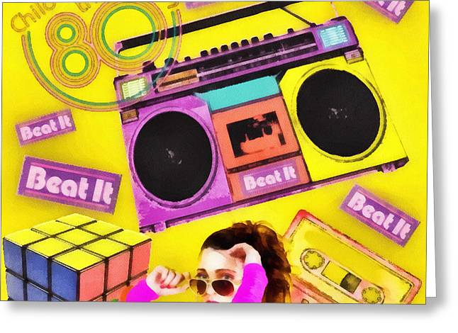 Beat it Greeting Card by Mo T
