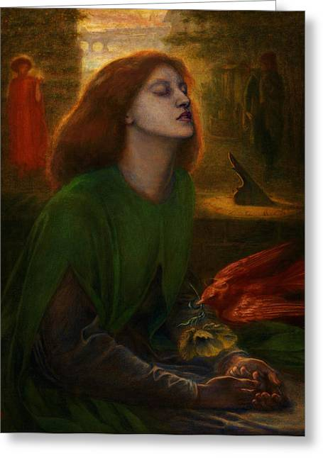 Rossetti Greeting Cards - Beata Beatrix  Greeting Card by Celestial Images