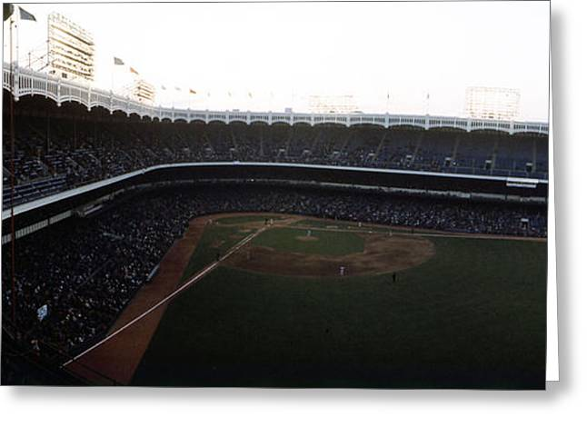 New York Vista Greeting Cards - Beautiful Right Field View Of Old Yankee Stadium Greeting Card by Retro Images Archive
