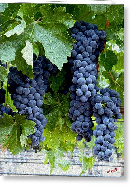 Cabernet Greeting Cards - Beautiful Fruit Greeting Card by Jon Neidert