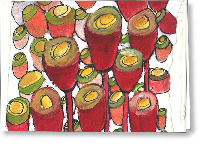 Beating of the Drum Greeting Card by Sherry Harradence