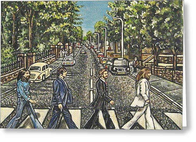 Ringo Starr Drawings Greeting Cards - Beatles - Abbey Road Greeting Card by Kylie Robertson