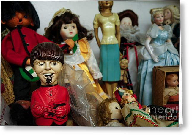 Market Greeting Cards - Beatles Doll in Antique Shop Greeting Card by Amy Cicconi