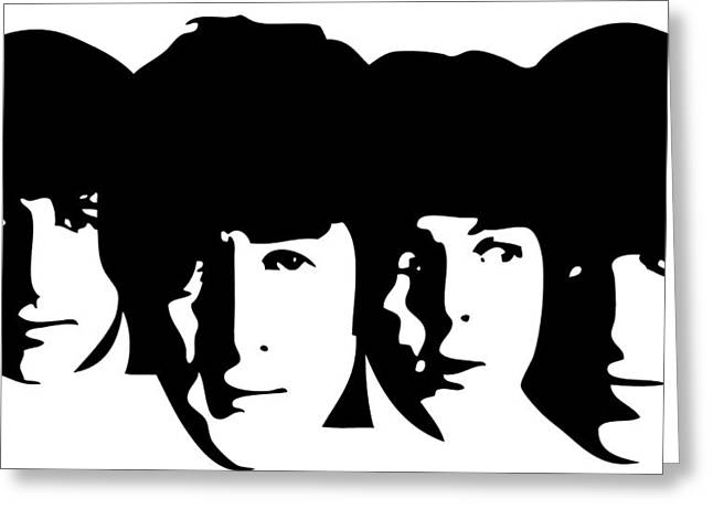 Beatles Canvas Greeting Cards - Beatles Greeting Card by Cool Canvas