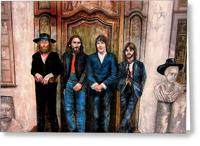 Hey Jude Greeting Cards - Beatles Hey Jude Greeting Card by Leland Castro