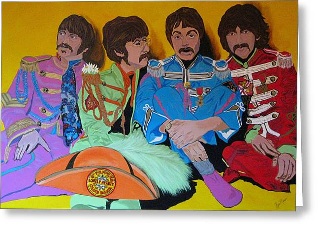 Lonely Hearts Club Band Greeting Cards - Beatles-Lonely Hearts Club Band Greeting Card by Bill Manson