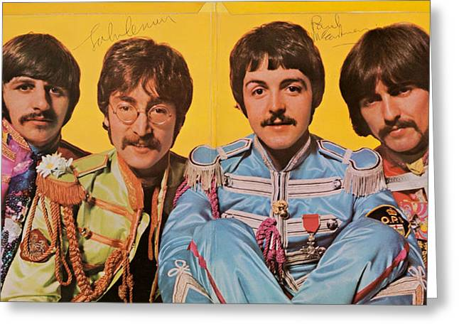 Lonely Hearts Club Band Greeting Cards - Beatles Sgt. Peppers Lonely Hearts Club Band Greeting Card by Robert Rhoads