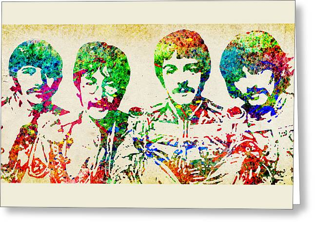 Lonely Hearts Club Band Greeting Cards - Beatles Sgt. Peppers  Greeting Card by Patricia Lintner