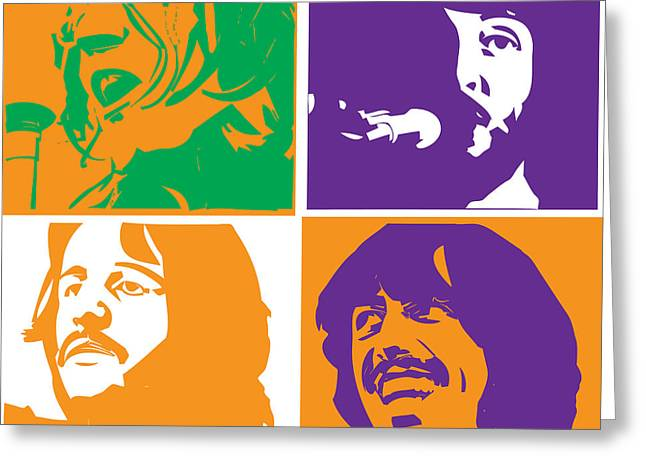 Rock N Roll Greeting Cards - Beatles Vinil Cover Colors Project No.02 Greeting Card by Caio Caldas