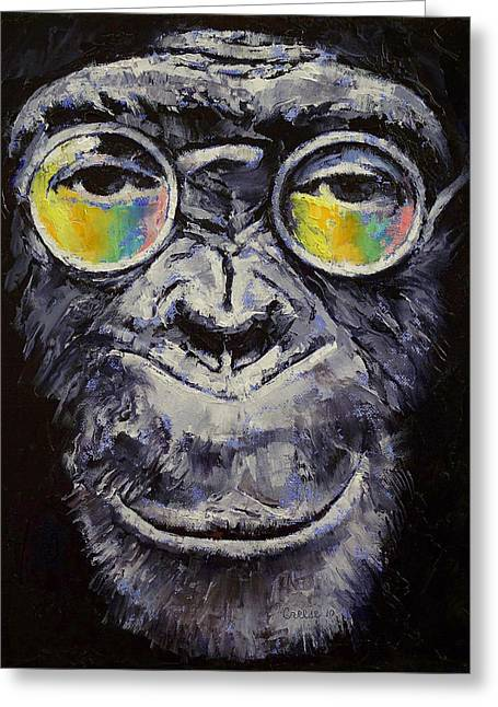 Hippy Greeting Cards - Beatnik Greeting Card by Michael Creese