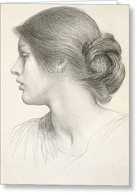 Delicate Drawings Greeting Cards - Beatrice Stuart Greeting Card by Sir Frank Dicksee