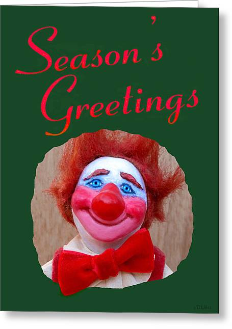 Character Sculptures Greeting Cards - Beau - Seasons Greetings Greeting Card by David Wiles