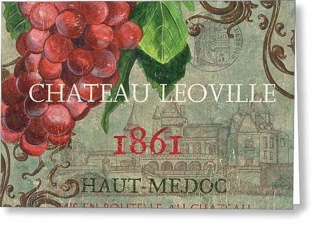 Chateau Greeting Cards - Beaujolais Nouveau 1 Greeting Card by Debbie DeWitt