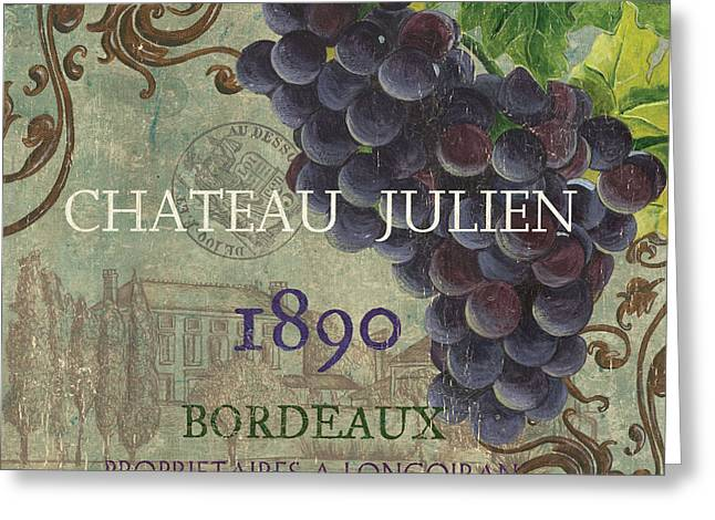Chateau Greeting Cards - Beaujolais Nouveau 2 Greeting Card by Debbie DeWitt