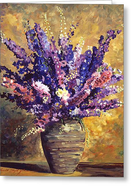 Interior Still Life Greeting Cards - Beaujolais Bouquet Greeting Card by David Lloyd Glover