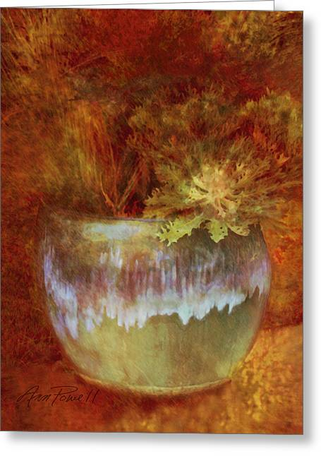 Ann Powell Art Greeting Cards - Beautful Planter   Greeting Card by Ann Powell