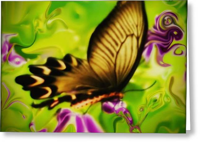 Beautifly Greeting Card by SusanMarie StudioZ