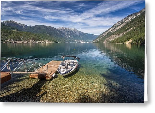 Labor Day Greeting Cards - Beautiful Anderson Lake British Columbia Greeting Card by Pierre Leclerc Photography