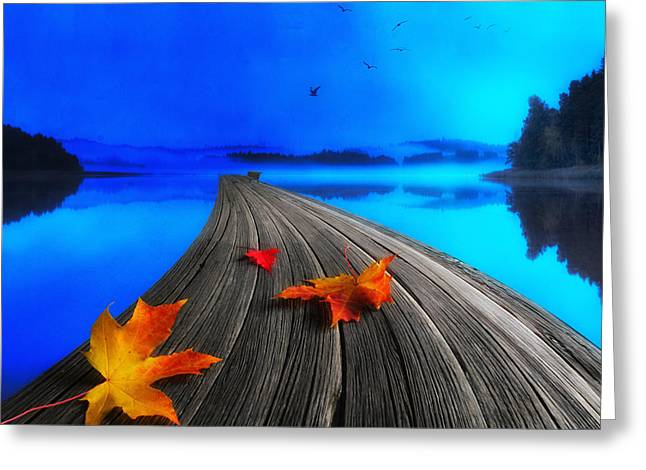 Water Color Artist Greeting Cards - Beautiful Autumn Morning Greeting Card by Veikko Suikkanen