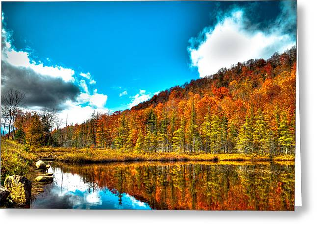 Hdr Landscape Greeting Cards - Beautiful Bald Mountain Pond Greeting Card by David Patterson