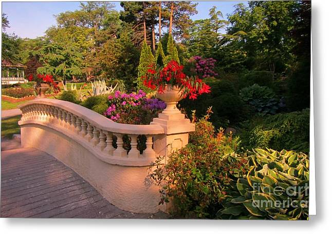 Halifax Photographs Greeting Cards - Beautiful Balustrade Fence in Halifax Public Gardens Greeting Card by John Malone