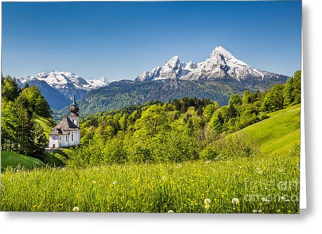 Oberbayern Greeting Cards - Beautiful Bavaria Greeting Card by JR Photography