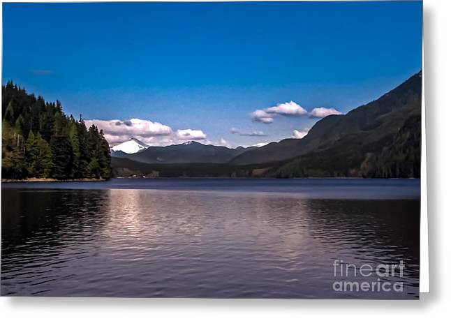 Queen Charlotte Strait Greeting Cards - Beautiful BC Greeting Card by Robert Bales