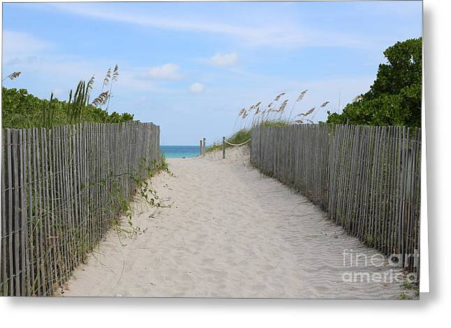 Sea Oats Greeting Cards - Beautiful Beach Day Greeting Card by Carol Groenen