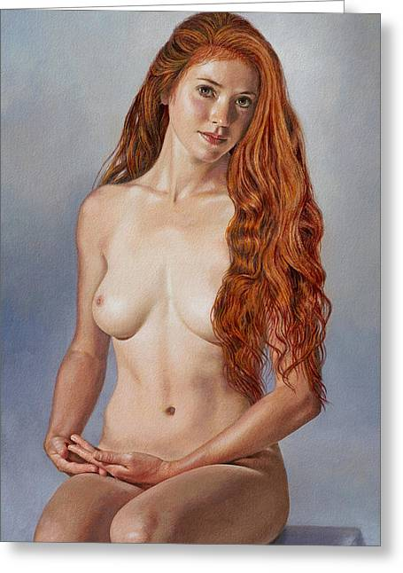Figures Paintings Greeting Cards - Beautiful Becca Greeting Card by Paul Krapf