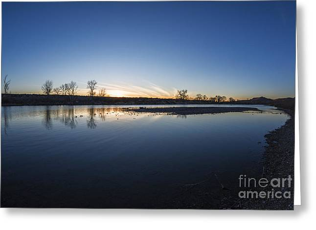 After Sunset Greeting Cards - Beautiful Boise River in Boise Idaho Greeting Card by Vishwanath Bhat