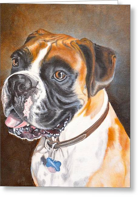 Working Dog Greeting Cards - Beautiful Boxer Greeting Card by Judith Killgore