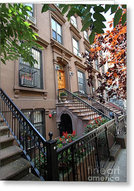 Adam Clayton Greeting Cards - Beautiful Brownstone Home Greeting Card by Steven Spak