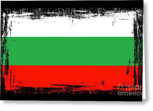 Europe Mixed Media Greeting Cards - Beautiful Bulgaria Flag Greeting Card by Pamela Johnson