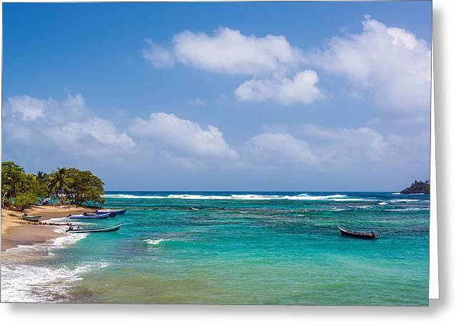 Miel Greeting Cards - Beautiful Caribbean Water Greeting Card by Jess Kraft