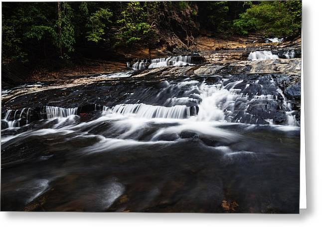 Nature Body Greeting Cards - Beautiful cascade in Western Ghats in Karnataka India Greeting Card by Vishwanath Bhat