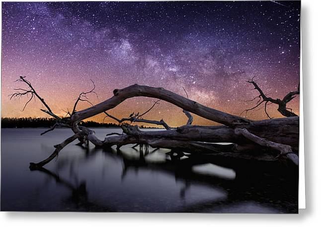 Milky Way Photographs Greeting Cards - Beautiful Chaos Greeting Card by Aaron J Groen