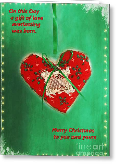 Christs Birthday Greeting Cards - Beautiful Christmas Card Message Greeting Card by Carolyn Rauh