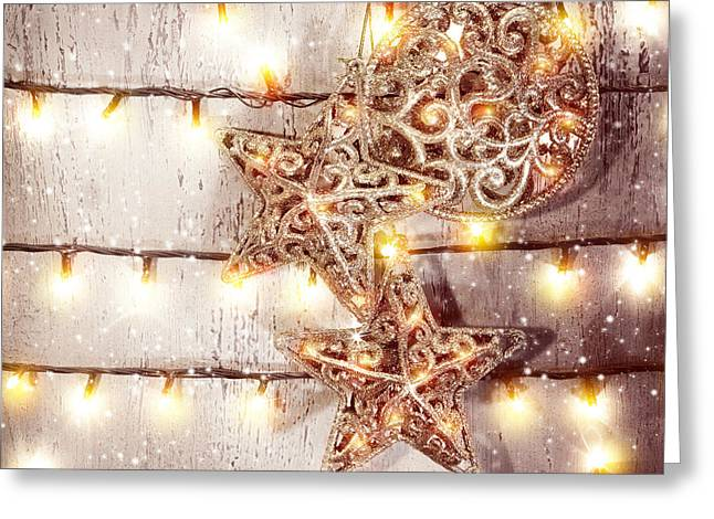 Christmas Eve Greeting Cards - Beautiful Christmas decorations Greeting Card by Anna Omelchenko