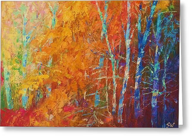Sean Paintings Greeting Cards - Beautiful Color Greeting Card by Sean Wu