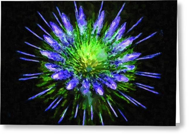 4th July Paintings Greeting Cards - Beautiful colorful holiday fireworks 1 Greeting Card by Lanjee Chee