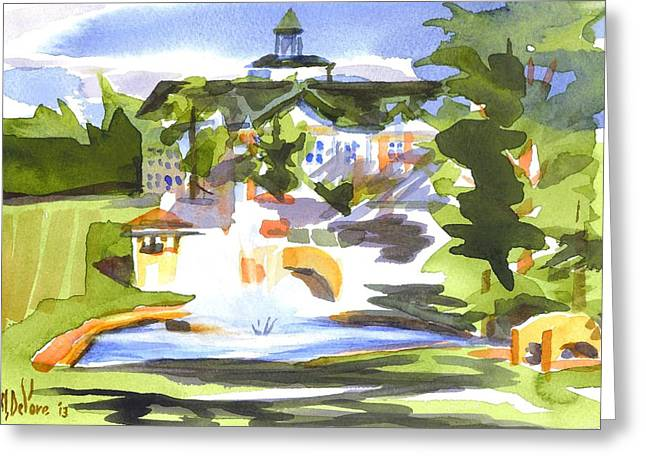 Crisp Greeting Cards - Beautiful Day at the Baptist Home of the Ozarks in Watercolor Greeting Card by Kip DeVore