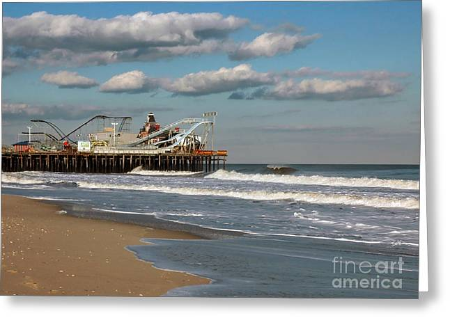 Casino Pier Greeting Cards - Beautiful day at the beach Greeting Card by Photoart BySaMi