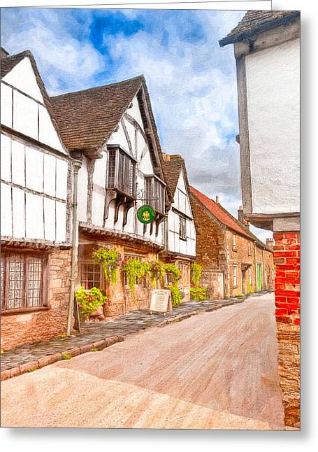 Antiquarian Greeting Cards - Beautiful Day In An Old English Village - Lacock Greeting Card by Mark Tisdale