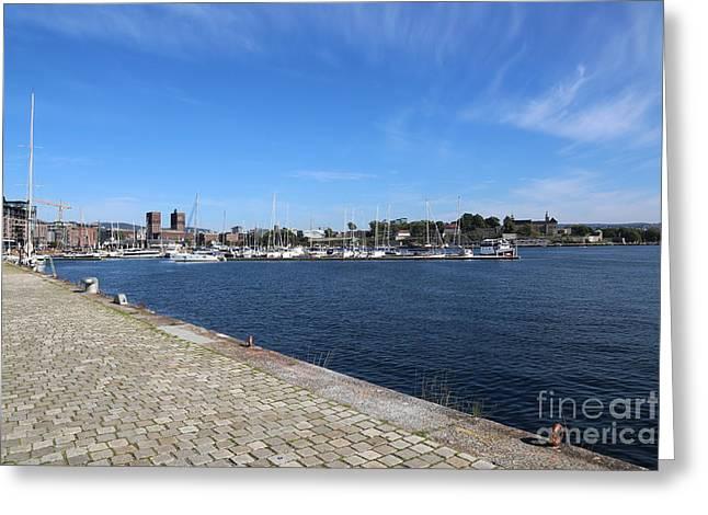 Oslo Greeting Cards - Beautiful Day in Oslo Greeting Card by Carol Groenen