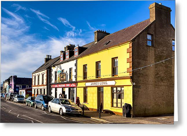 Beautiful Day On The Streets Of Dingle Ireland Greeting Card by Mark E Tisdale