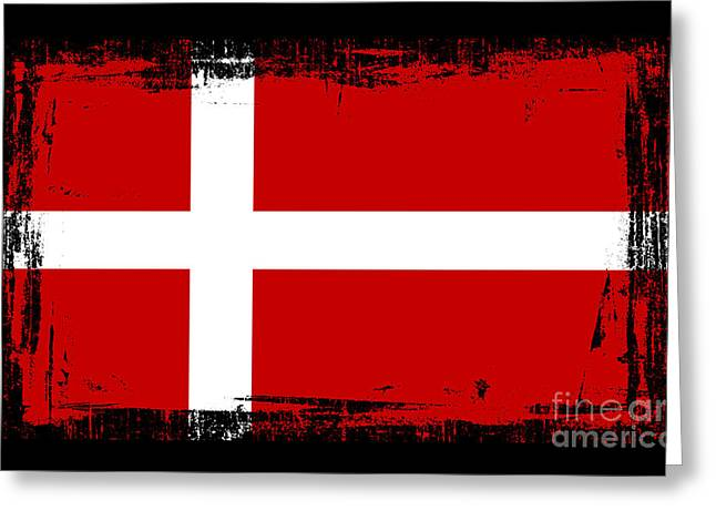 Europe Mixed Media Greeting Cards - Beautiful Denmark Flag Greeting Card by Pamela Johnson