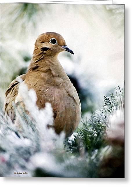Christina Digital Art Greeting Cards - Beautiful Dove Greeting Card by Christina Rollo