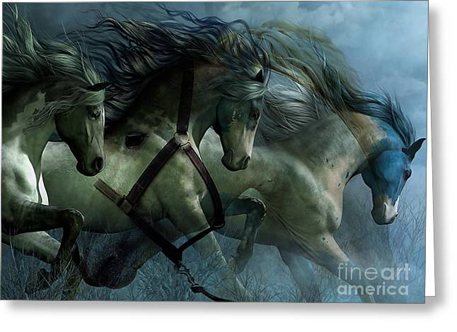 Horses Greeting Cards - Beautiful Dream Greeting Card by Marvin Blaine