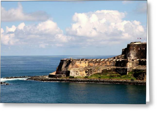 Puerto Rican Greeting Cards - Beautiful El Morro Greeting Card by Karen Wiles